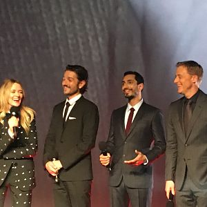 The Cast at the  Rogue One UK premier